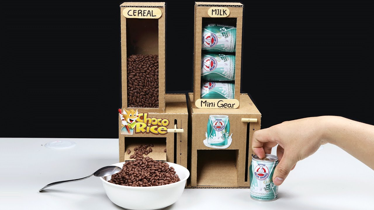 Wow Amazing Diy Cereal And Milk Dispensers From Cardboard Youtube