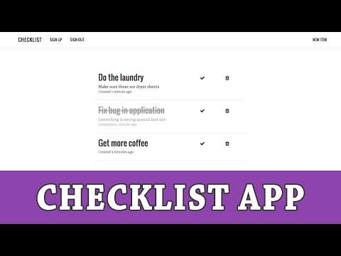 Ruby on Rails Tutorial | Building a Checklist