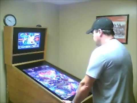 Byron Wheeler's Homemade Virtual Pinball Cabinet Running Visual ...