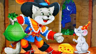КОТ в САПОГАХ - собираем пазлы для детей с героями мультика Кот в сапогах  | Danik and Lesha