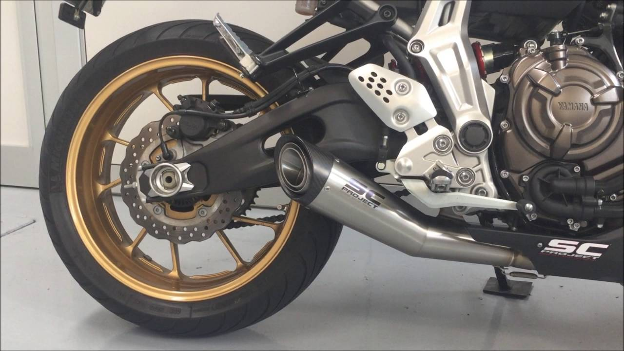 yamaha mt 07 fz 07 sc project s1 exhaust youtube. Black Bedroom Furniture Sets. Home Design Ideas