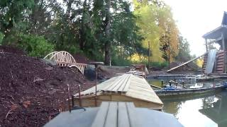New Garden Train Layout And R.c. Boat Pond 4
