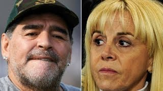 Claudia Villafañe a juicio por la serie de Maradona