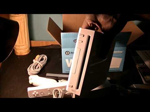 GameStop (Pre-Owned) Nintendo Wii System - Unboxing, 1st Look And Update