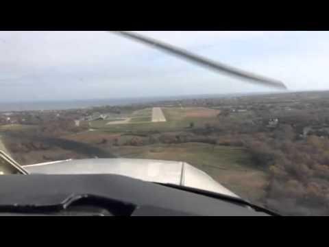 Piper warrior landing at KBID
