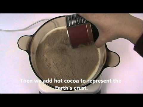Plate tectonics on a cocoa earth