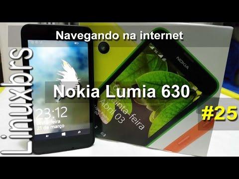 Nokia Lumia 630 WP 8.1 - Navegando na internet - PT-BR - Brasil