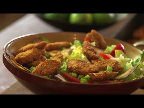 Crispy Chicken, Avocado & Lime Salad with Fried Tortilla Triangles From Old El Paso