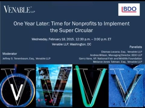 One Year Later: Time for Nonprofits to Implement the Super Circular - February 18, 2015