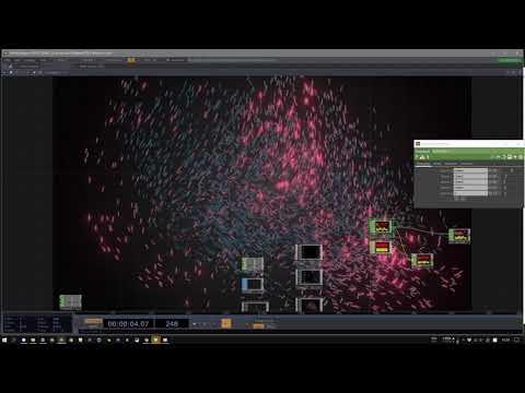 Curl Noise particles to audio test