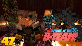 Minecraft Nether GLITCH! FLOATING NETHER MOBS!? Attack Of The B Team Minecraft Mod Survival (47)