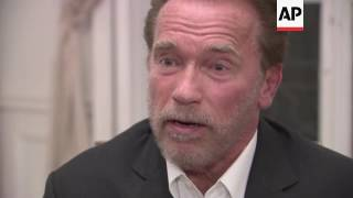 Schwarzenegger talk on climate policy