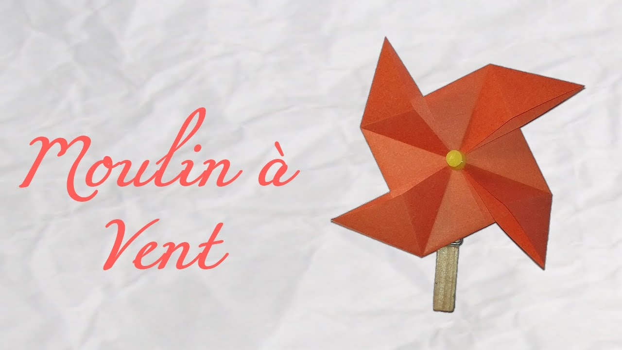 Origami moulin vent facile youtube - Origami facile et rapide ...