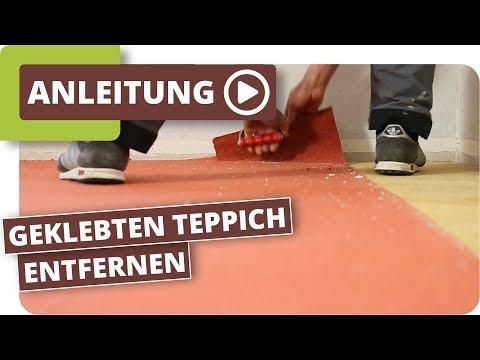 Geklebten Teppich Entfernen - Teppichkleber Ohne Schleifen Mit Abbeizer Entfernen