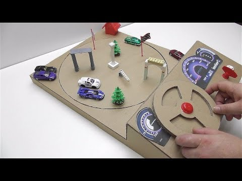 Thumbnail: How to make a track car with magnets Desktop Game from Cardboard