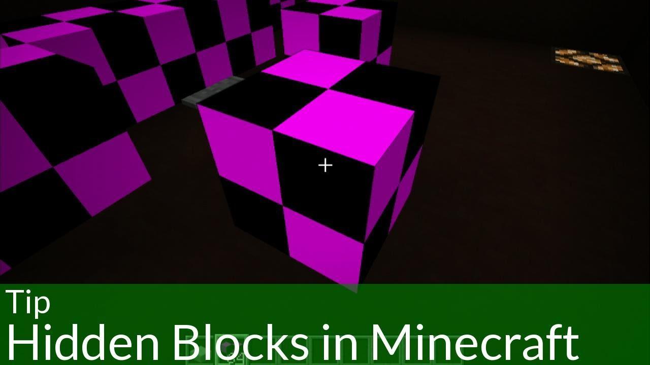 Tip Hidden Blocks In Minecraft Youtube