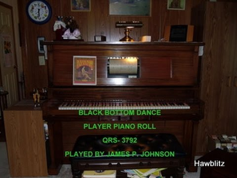 BLACK BOTTOM DANCE - PLAYER PIANO ROLL - PLAYED ON MY STULTZ & CO. 1921 PLAYER PIANO