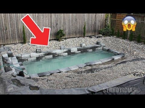 Creían que este tipo construía una piscina pequeña, pero cuando la lleno de agua ¡quedaron atónitos!