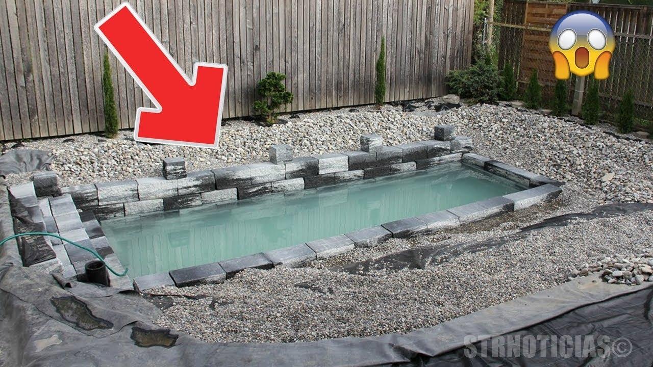Cre an que este tipo constru a una piscina peque a pero for Cuando abren las piscinas