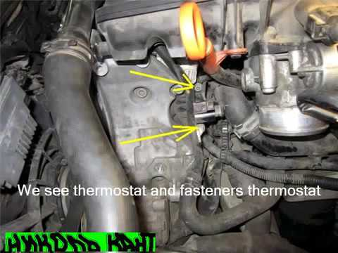 Thermostat Replacement On Audi A4 B7 Youtube