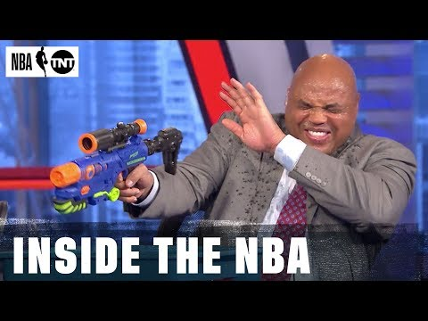 [Inside the NBA] Super Soaker Battle Breaks Out in Studio J | NBA on TNT