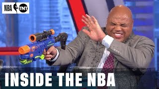 Super Soaker Battle Breaks Out in Studio J | NBA on TNT