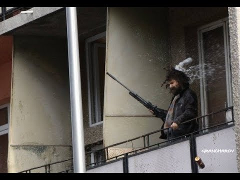 The man with rifle threatened for Levski Sofia fans 15.10.2017