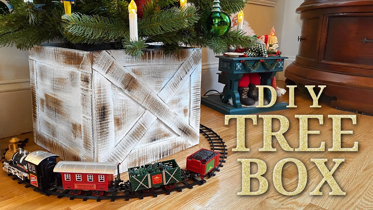 Diy Christmas Tree Collar Box Inexpensive Easy Homemade Christmas Decorating Idea Youtube
