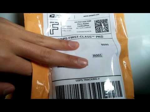 Tutorial how to create and print a shipping label online using paypal for usps or ups services