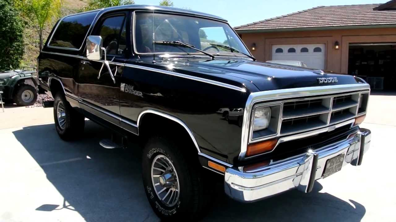 1987 dodge ram charger 4x4 clean blazer bronco ramcharger suv youngtimer 1986 build youtube [ 1280 x 720 Pixel ]