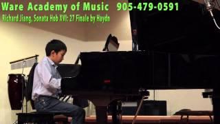 Richard Jiang, Sonata Hob:XVI: 27 Finale by Haydn