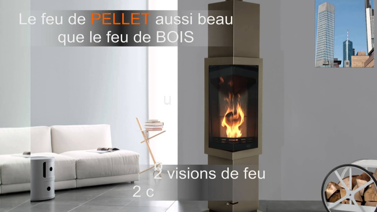 po le pellet bois max blank frankfurt vue frontale youtube. Black Bedroom Furniture Sets. Home Design Ideas