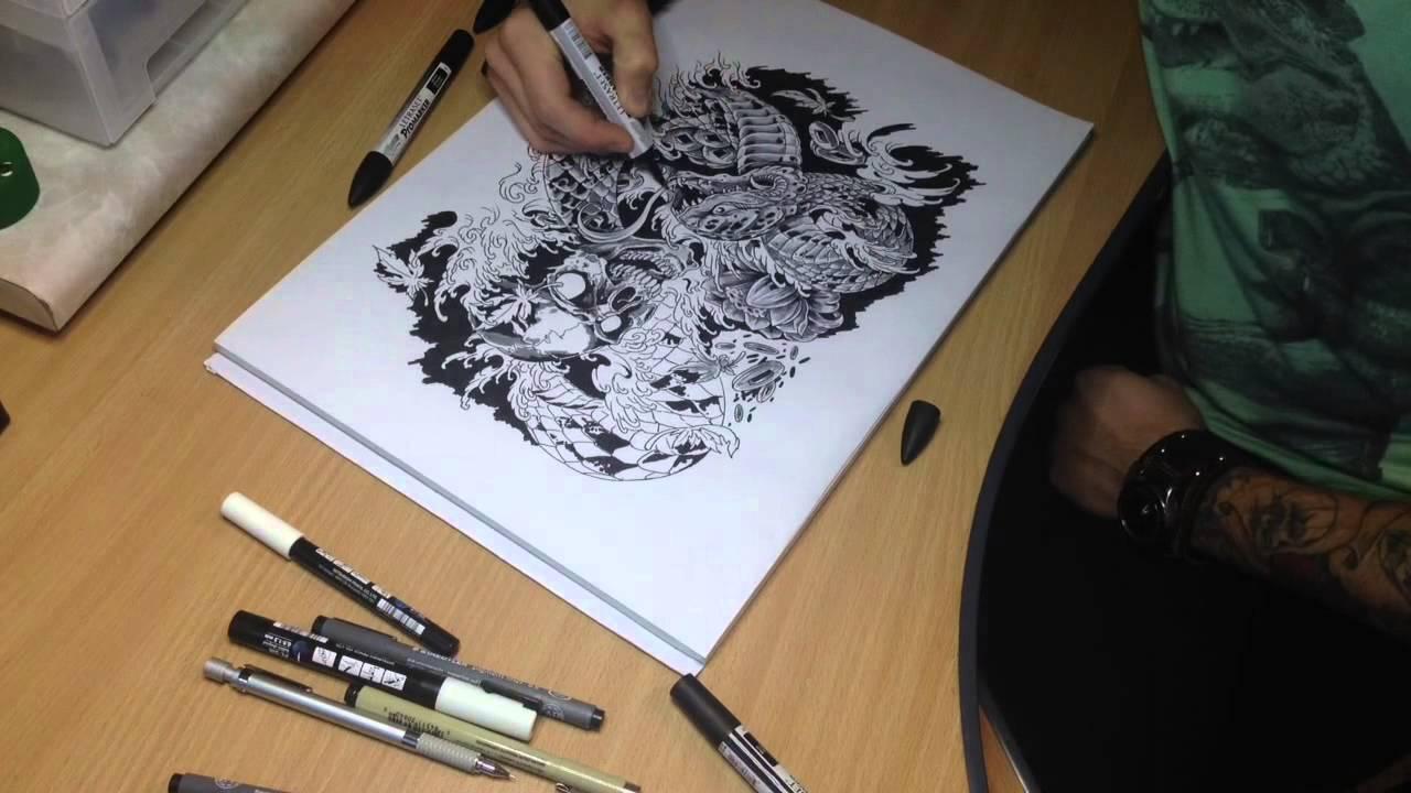 Как из сделать эскиз татуировки 11
