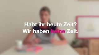 Němčina pro samouky mit Jitka 4: Zápor v němčině