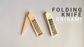 Folding Knife from a4 paper easy instructions