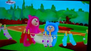 BabyTV Billy and Bam Bam taking down the washed clothes english