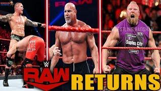 Brock Lesnar Returning to WWE 2021?! Goldberg & Randy Orton CONFIRMED* Returns to WWE Raw 2021!!