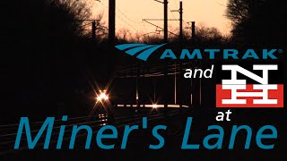 Amtrak and Shore Line East Trains at Miner