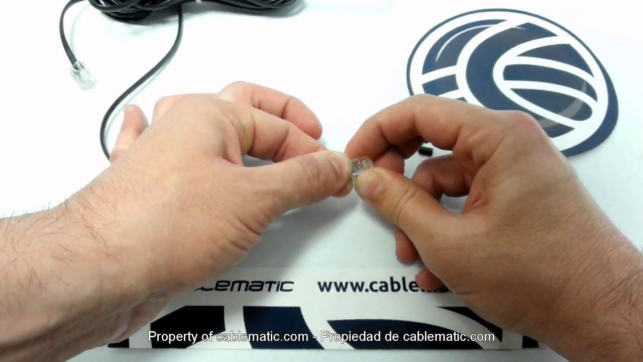 cat 3 wiring diagram rj11 2005 ford escape trailer connector assembly using 2 pin or 4 telephone cable youtube