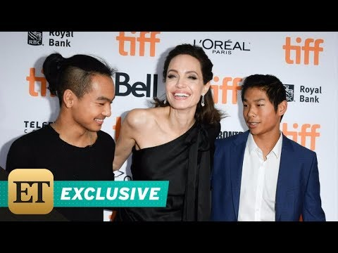 EXCLUSIVE: Angelina Jolie Adorably Reveals Why Her Kids Were Laughing Before TIFF Red Carpet