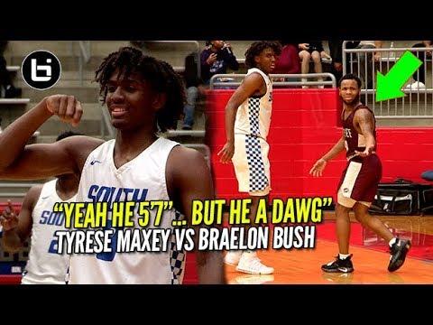 HEART OVER HEIGHT! 5'7'Braelon Bush VS Tyrese Maxey At Thanksgiving Hoopfest