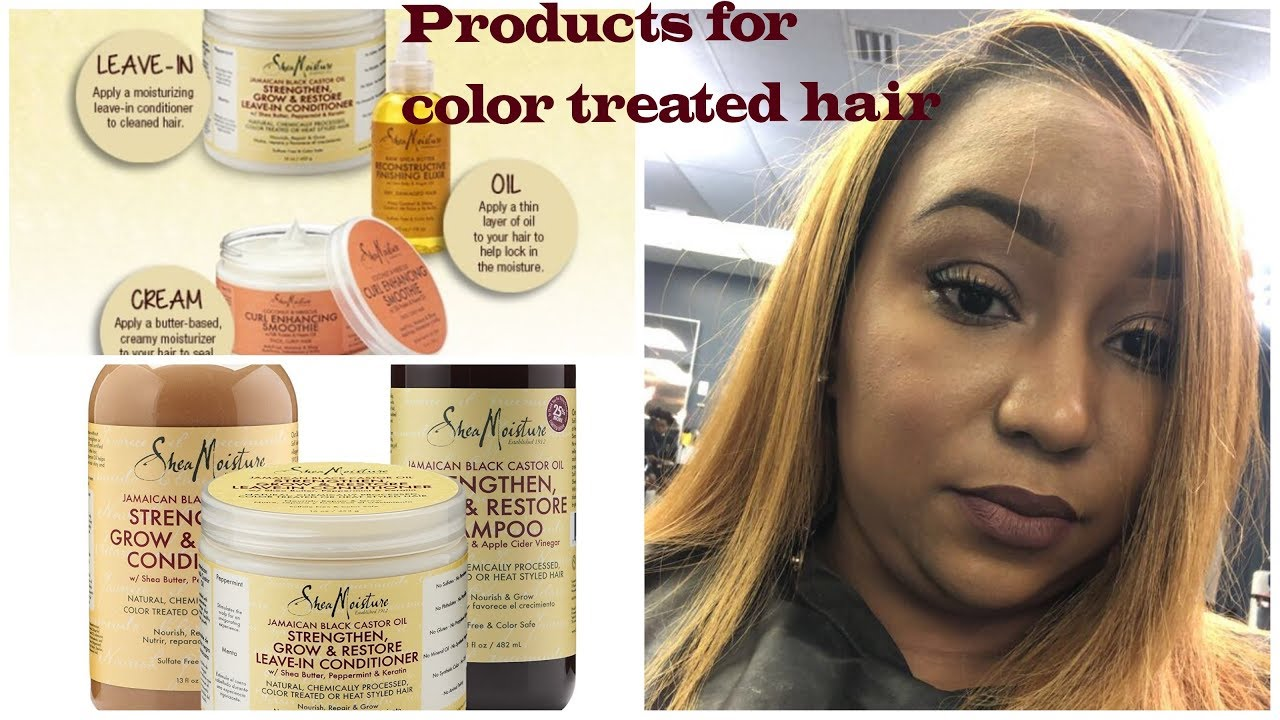 Product Line I Chose For My Color Treated Natural Hair Youtube