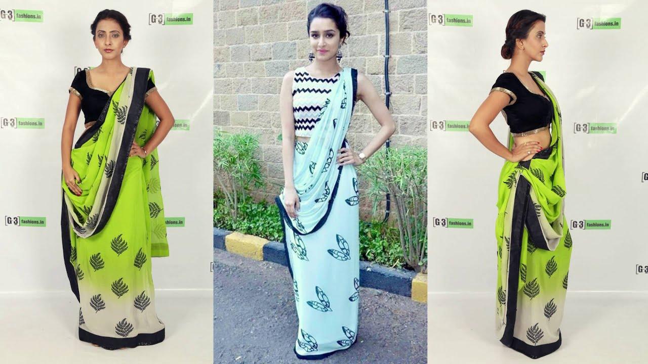 85bb60f0178 How to Wear Bollywood Saree Style like Shraddha Kapoor