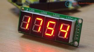 4 разрядный 7 сегментный индикатор с 74HC595, от ICStation