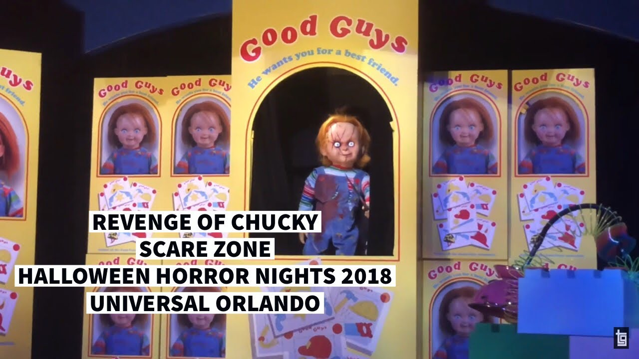 Halloween Horror Nights 2020 Chucky Scare Zone Revenge of Chucky Scare Zone Halloween Horror Nights 2018   YouTube