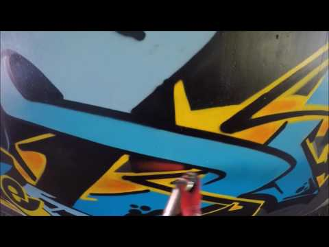Graffiti - Ghost EA - Blue & Yellow