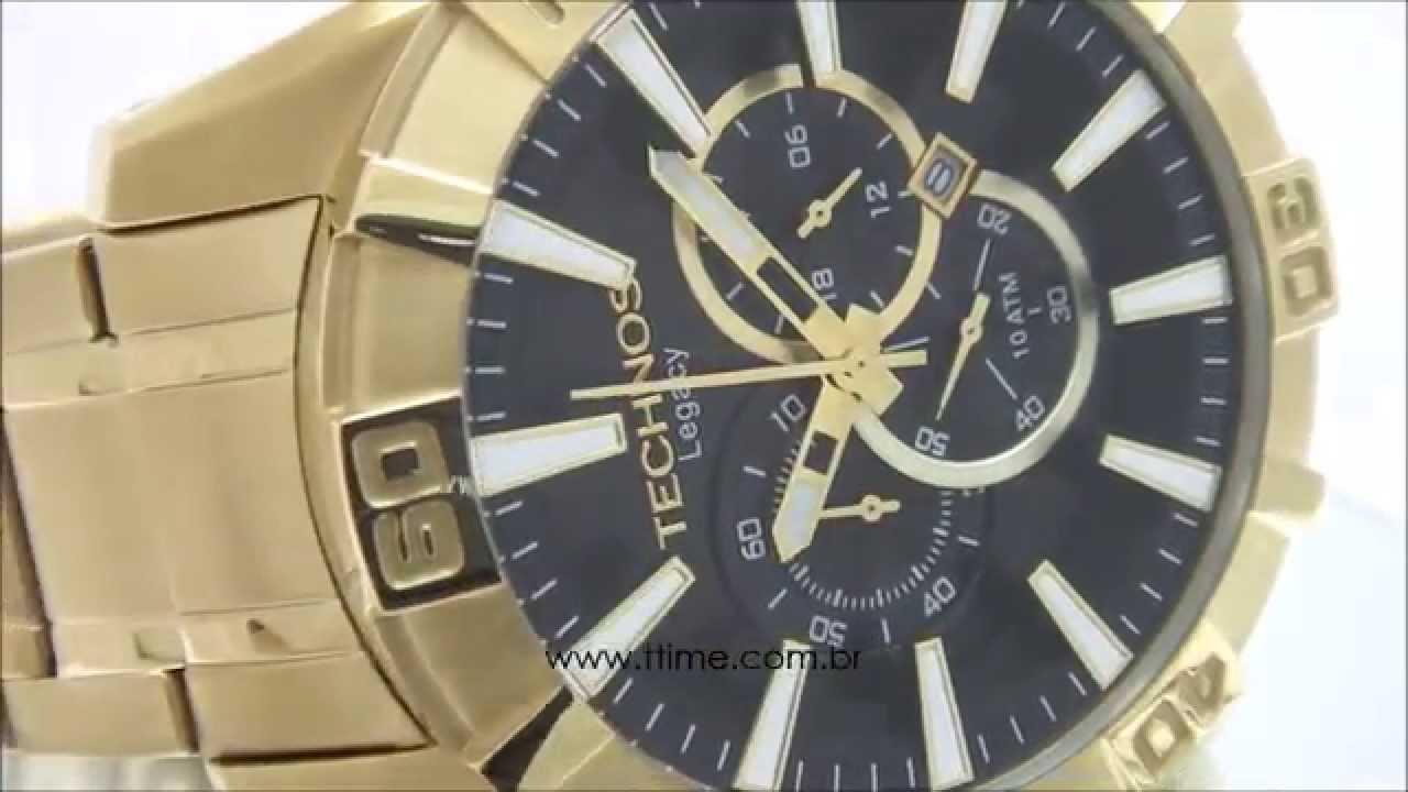 161edc97acb Relógio Technos Troca Pulseiras Legacy OS2AAJ 4P - YouTube