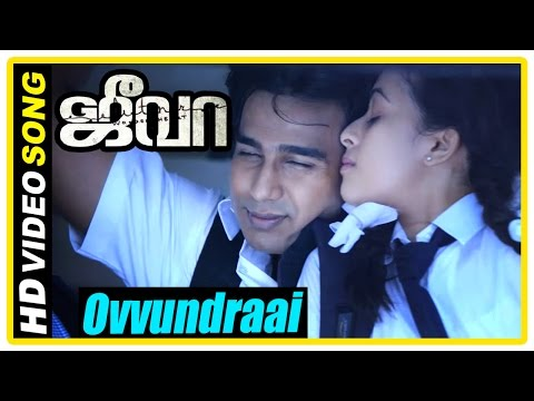 Jeeva Tamil movie   scenes   Sri Divya proposes to Vishnu   Ovvundraai Song   Siva beats Vishnu