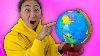 SPINNING A GLOBE AND GOING WHEREVER IT LANDS!!