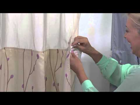 Hookless Cherry Blossom Embroidery 3 in 1 Shower Curtain with Stacey Stauffer
